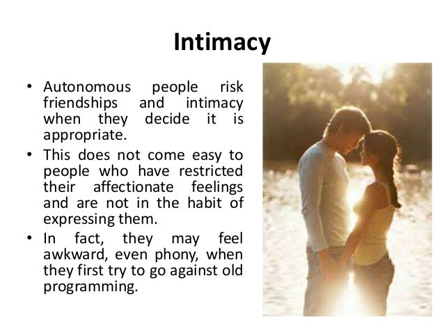 What does intimately mean