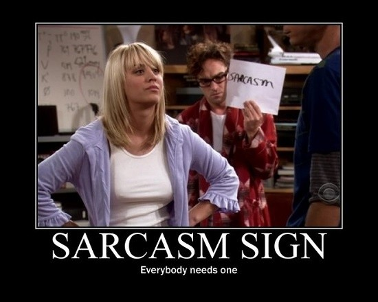 What does sarcasm say about a person