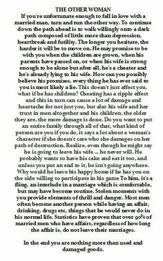 What makes a man leave his wife for another woman