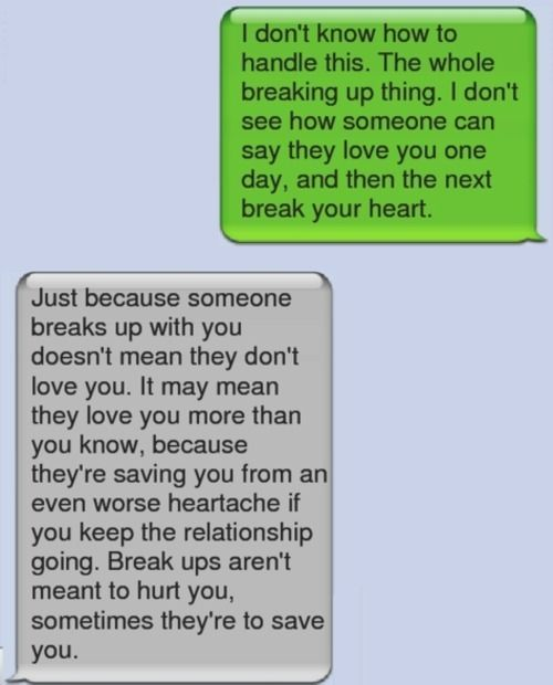 What to say to someone who just broke up