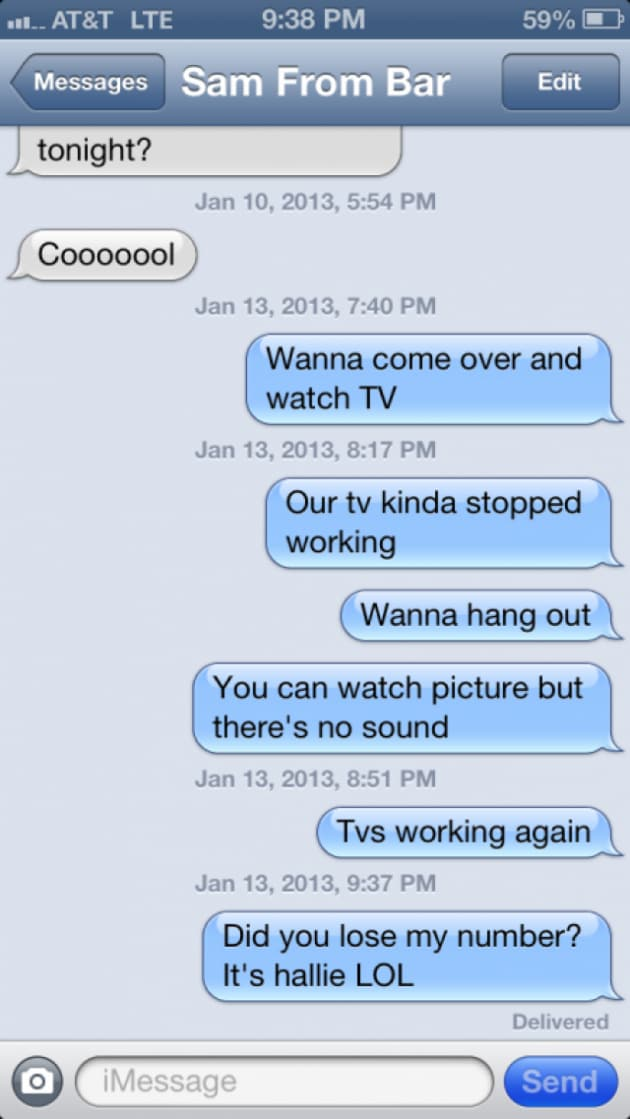 To a guy text things What To
