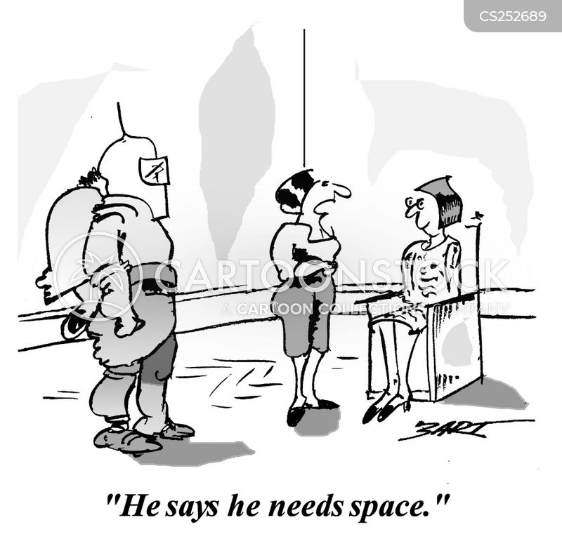 When a man needs space