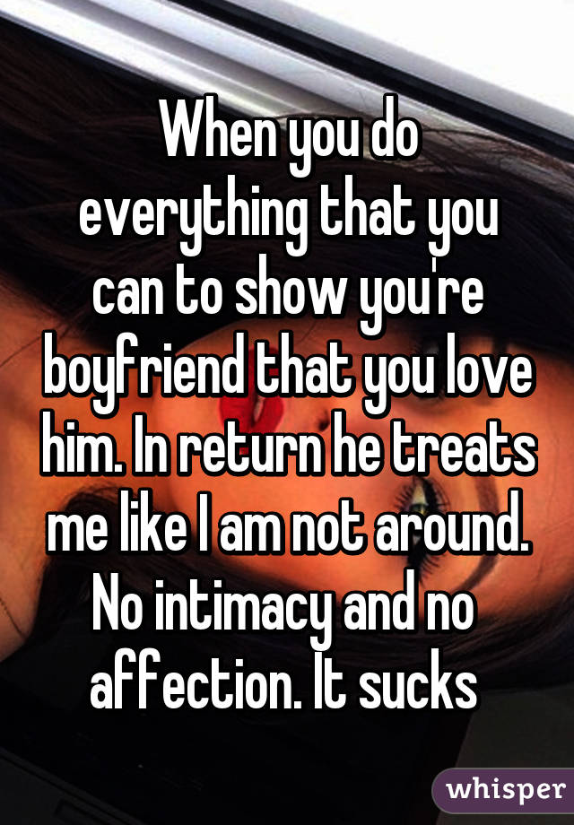 When a man shows no affection