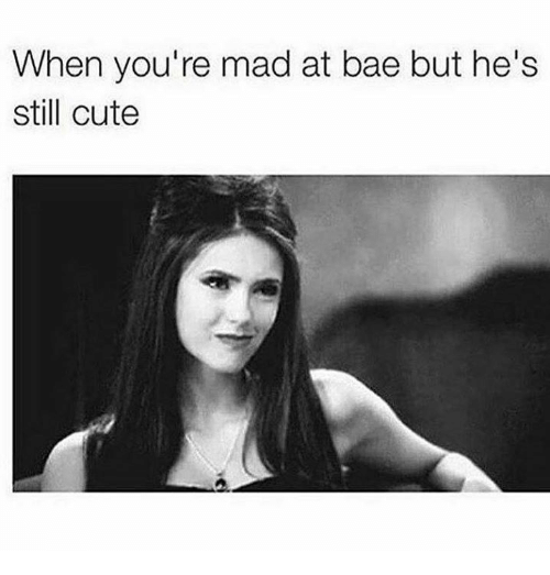 When hes mad at you