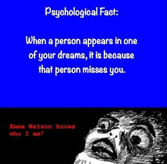 When someone appears in your dream