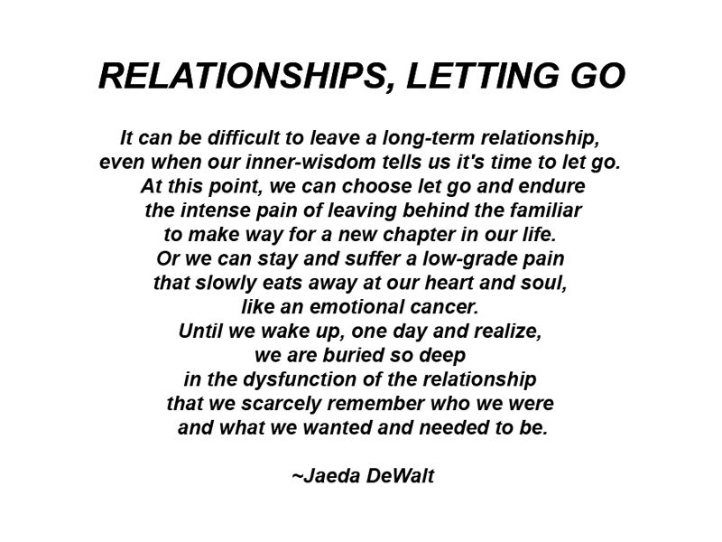How end a long term relationship