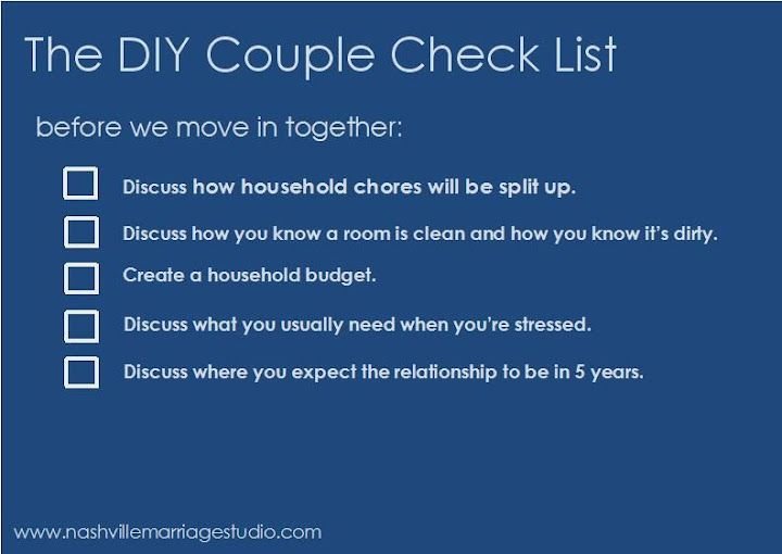 When to move in together