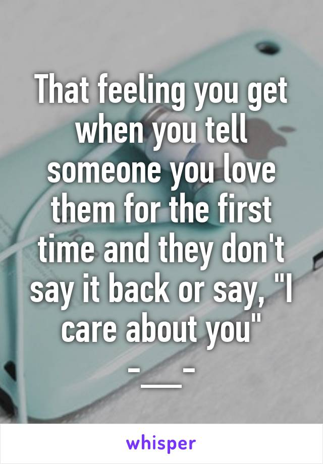 When to tell someone you love them