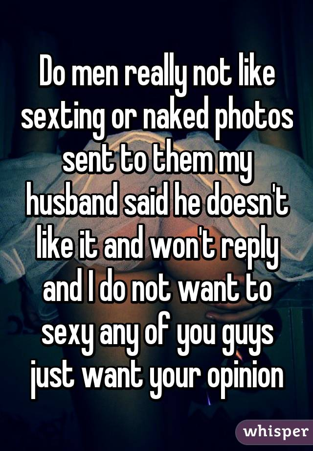 Why do men love sexting