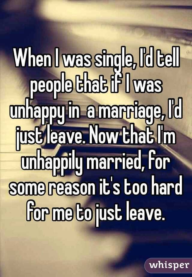 Why do people stay in unhappy marriages