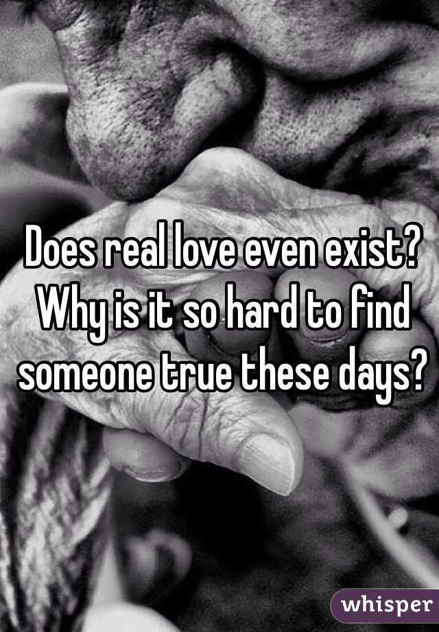Why is it so hard to find love