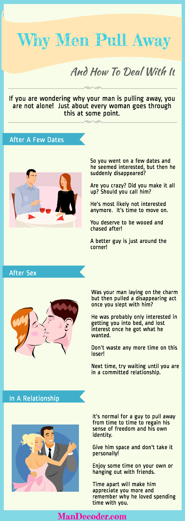 Why men pull away after sex
