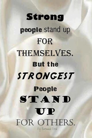 Word for standing up for yourself
