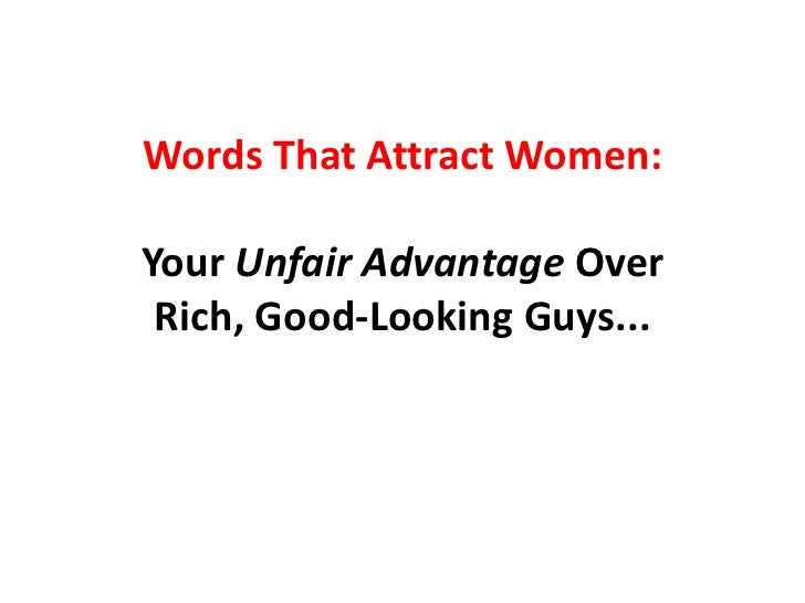 Words to woo a lady
