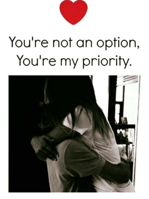 You are my priority